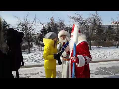 Алла Михеева берёт интервью у Белого Старца