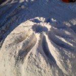 Национальное блюдо слепили из снега в Улан-Удэ
