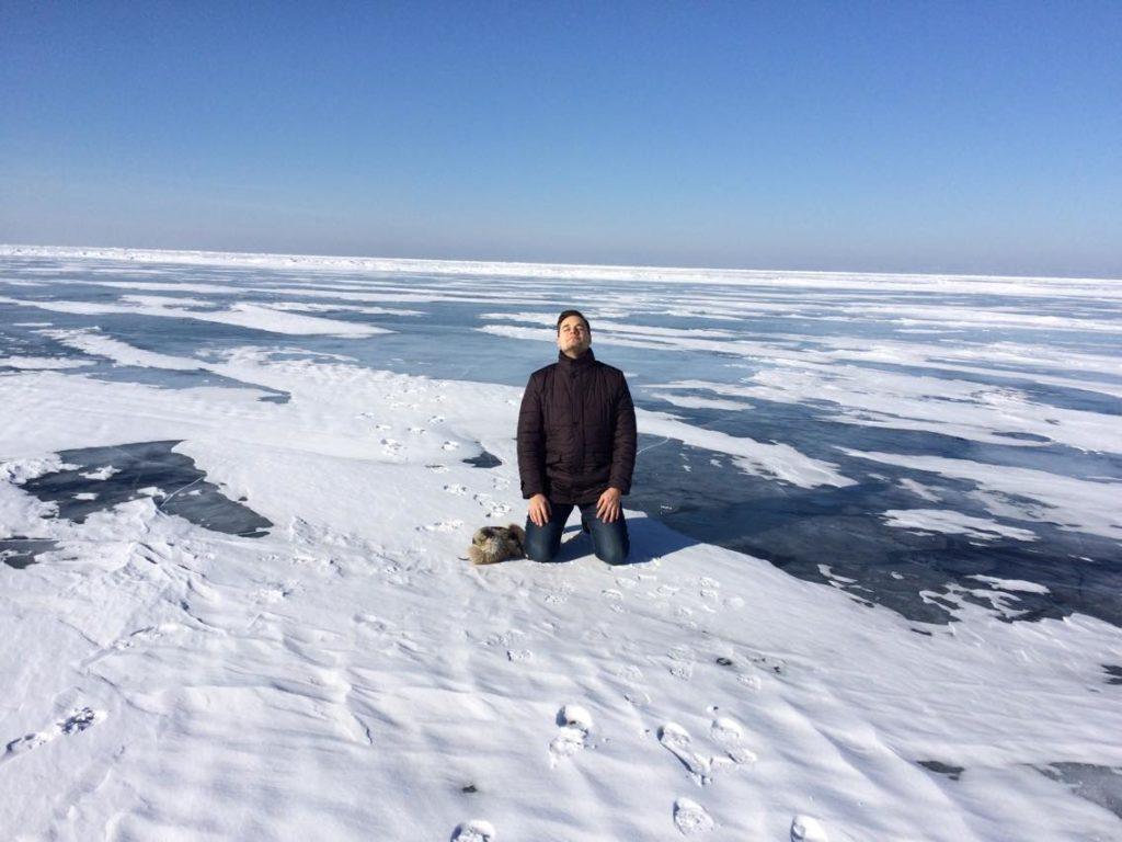 Альберт Жалилов на Байкале