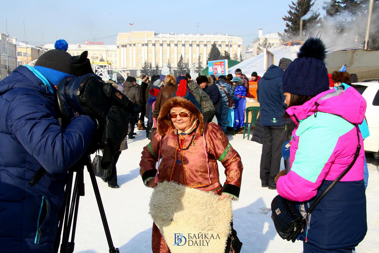 Празднование Сагаалгана Улан-Удэ