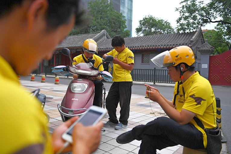 Служба доставки еды в Китае