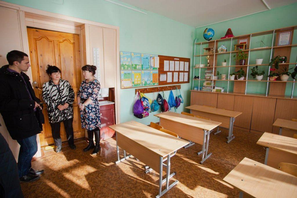 Класс школы в Угдане