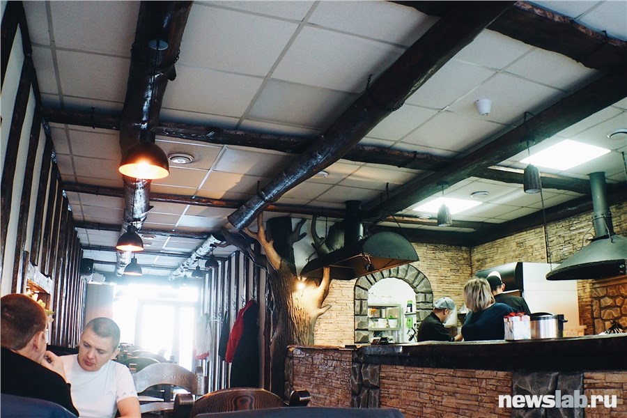 Интерьер Мангал. Кафе на углях